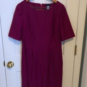 Jcrew shift dress, size 8, burgundy, pockets